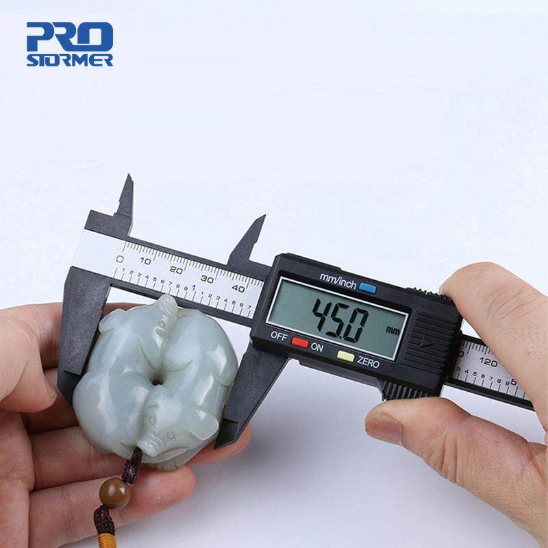 PROSTORMER 1pc Measuring Tool 0-150mm 6 Inch Plastic LCD Digital Electronic Carbon Fiber Vernier Caliper Rule Gauge Micrometer