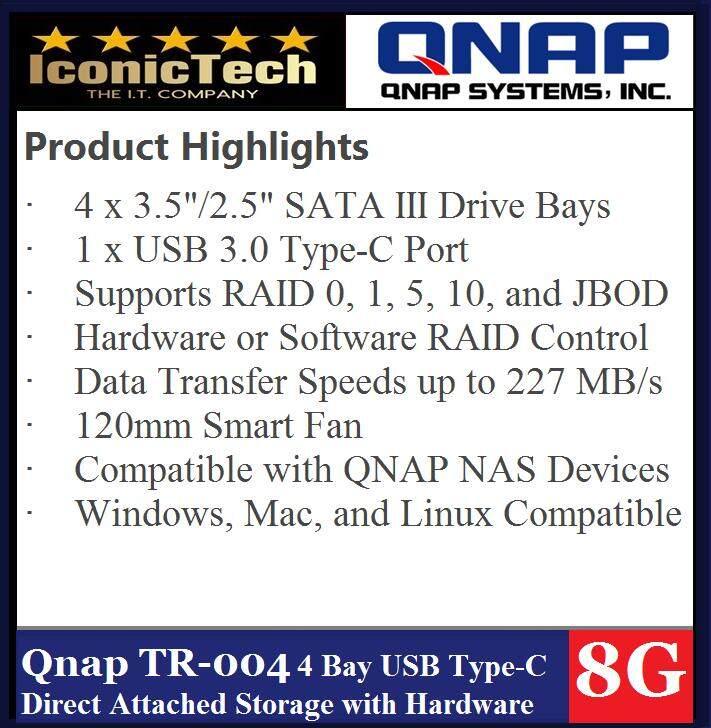 QNAP TR-004 4-Bay USB 3 0 RAID Expansion Enclosure