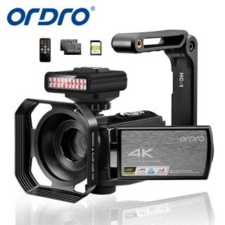 Máy Quay Video Máy Quay Hồng Ngoại 4K ORDRO AE8, Camera WiFi UHD 1080P 60FPS Camera Vlogging Màn Hình Cảm Ứng IPS 3.0 Tầm Nhìn Ban Đêm IR Với Điều Khiển Từ Xa Đèn Hồng Ngoại Ban Đêm Với Thẻ SD 32GB Và 2 Pin thumbnail