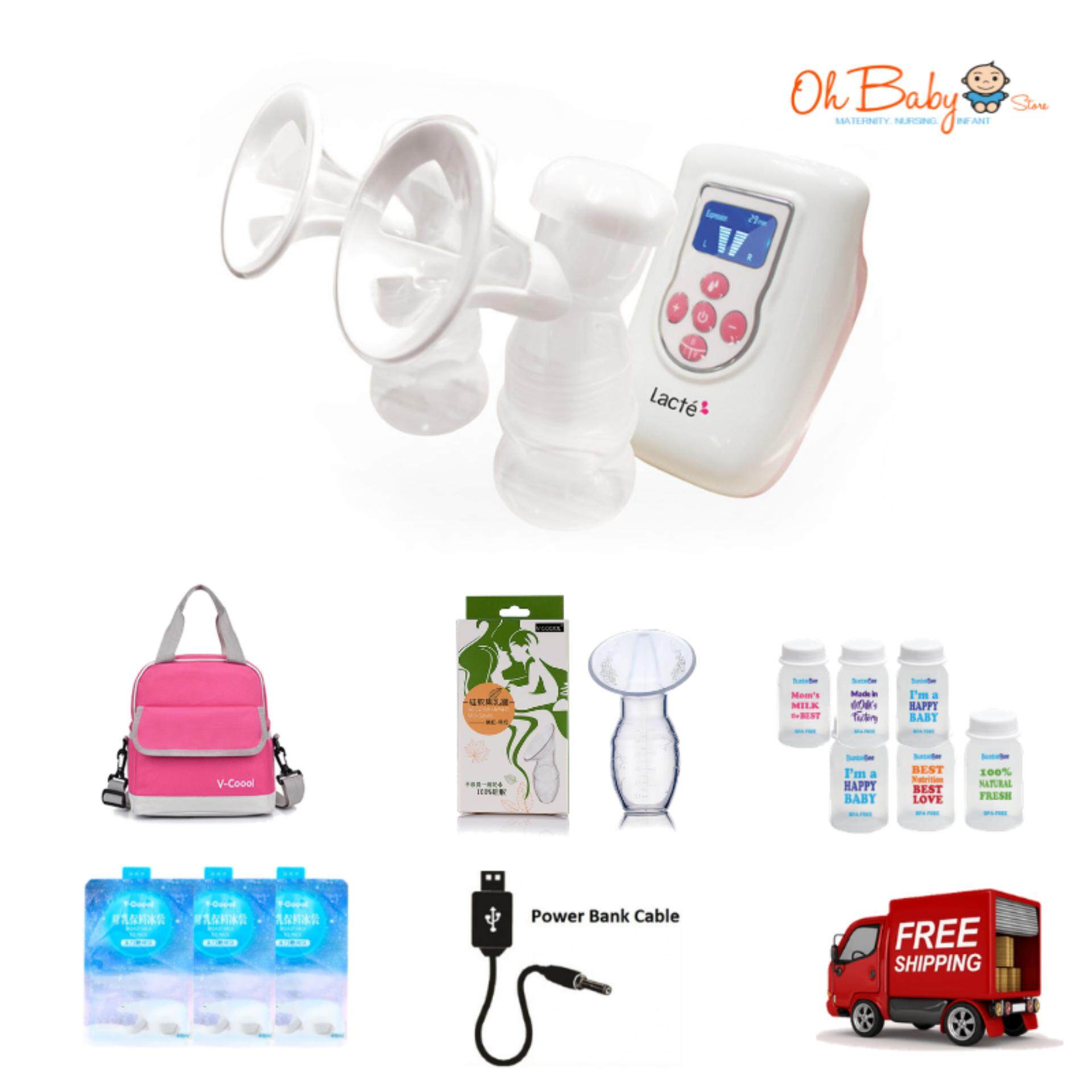 Lacte Duet Double Electric Breastpump Package By Oh Baby Store.