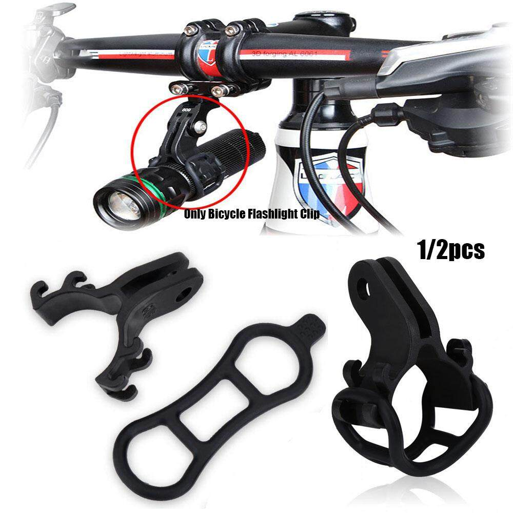 Light Holder Bracket Adapter Torch Flashlight Clip Road Bike Accessories
