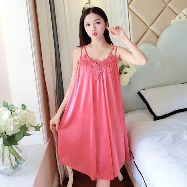 Giá bán SHENGHAN Váy Ngủ Nữ Yech Quần Áo Ngủ Quần Áo Ngủ Dài Váy Ngủ Bộ Đồ Ngủ Váy Ngủ