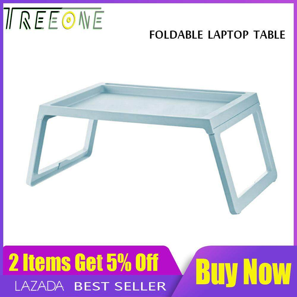 Foldable Laptop Table , Treeone Adjustable Height Laptop Table Portable Reading Standing Desk Foldable Breakfast Tray On Bed