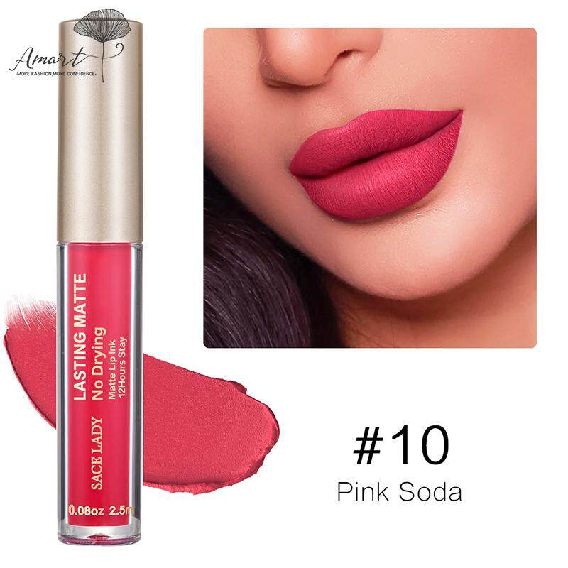 Amart Matte Lip Glaze 23 Colors Liquid Lipstick Nude Lip Tint Waterproof Long Lasting Cosmetics Philippines
