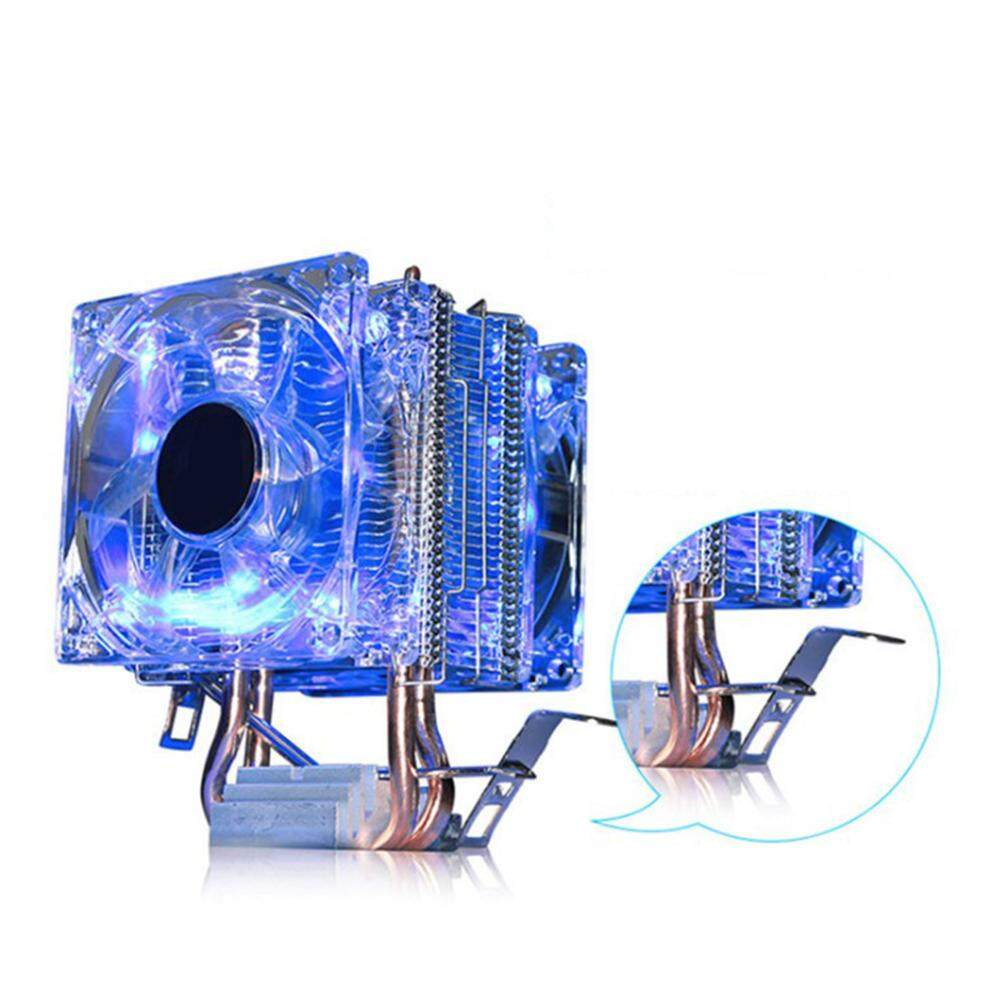 Heatpipes CPU Cooler Pure Copper Double Heat Pipe CPU Cooler 4 LED Lights Colorful Double Fan Computer Accessories