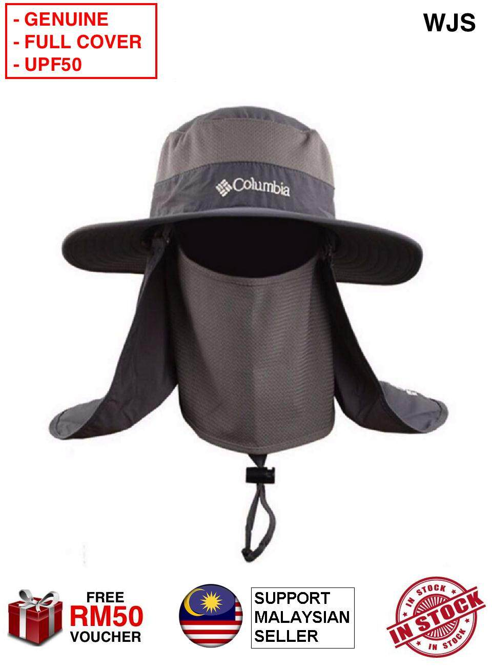 23e5df2e0573f (GENUINE) WJS Columbia Fisherman Hat Outdoor 360 Sunscreen Sun Screen Fisher  Man Hat UPF50