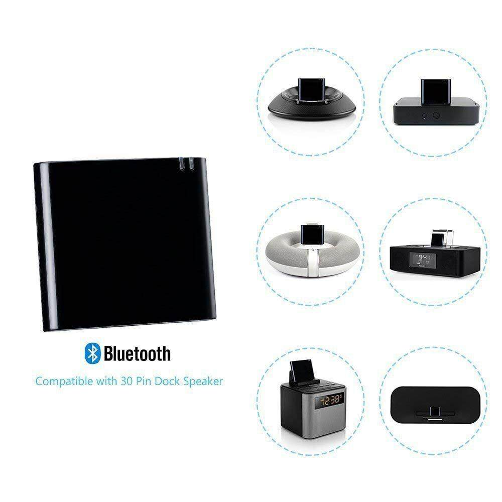 30pin Bluetooth 4 2 Aptx Low Latency 30 Pin stereo audio Adapter Music  Receiver for Bose SoundDock II 2 IX 10 portable speaker