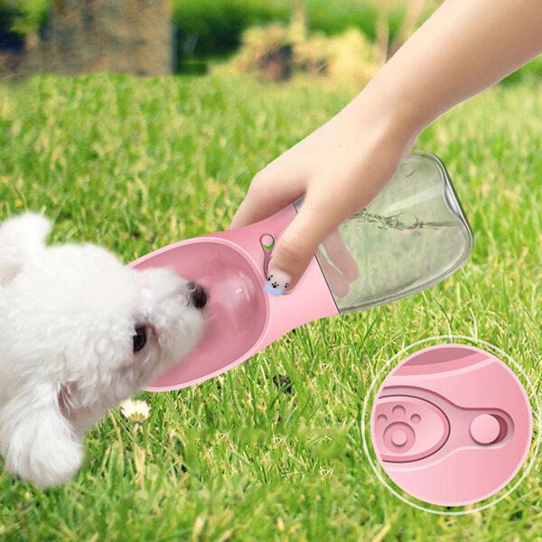 Bình Nước Cho Chó Cưng Tiện Dụng 350ML, Bình Uống Nước Cho Chó Mèo Du Lịch Ngoài Trời