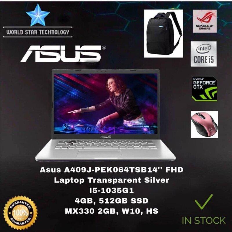 Asus A409J-PEK064TS 14 FHD Laptop Transparent Silver ( I5-1035G1, 4GB, 512GB SSD, MX330 2GB, W10, HS ) Malaysia