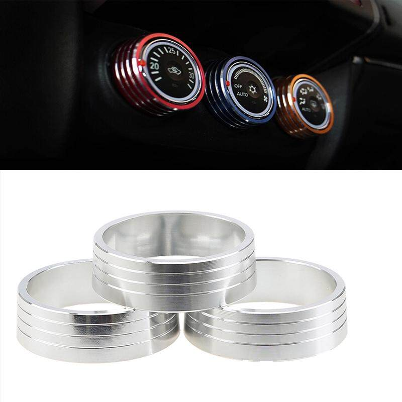 Silver 3pcs Car Air Conditioning Knob Decorative Circle Cover Switch Control Button Trim Ring Car Styling For Mitsubishi Asx By Guangzhou Possbay Trading Co., Ltd.