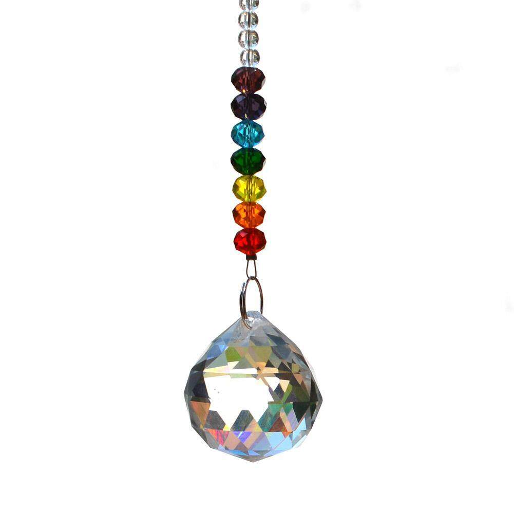 DIY Colorful Crystal Ball Beads Pendant Line Strand Decoration Accessory