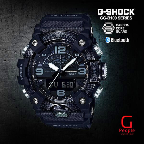 (hot) G Shock GG-B100-1BDR / GG-B100-1B / GG-B100-1 / GG-B100 MUDMASTER WATCH 100% ORIGINAL 200M Water Resistant Shockproof and Waterproof World Time LED Auto Light Wist Sports Watches with 2 Year Warranty Malaysia