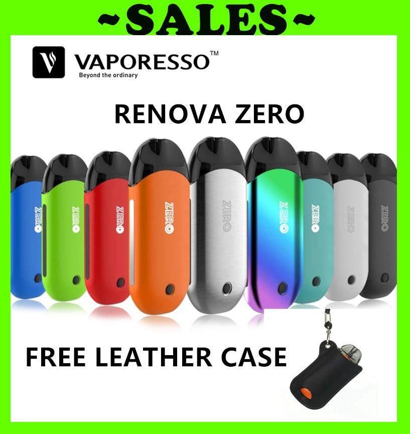 (free Leather Case) Original Vaporesso Renova Zero Pod Kit 650mah Built-In Battery &2ml Tank Coil S8 By Ykonline Shop.
