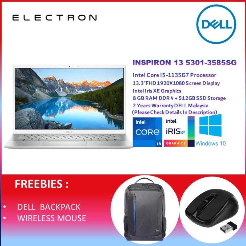 Dell Inspiron 13 5301 3585SG-W10 13.3 FHD Laptop Silver ( I5-1135G7, 8GB, 512GB SSD, Intel, W10, HS ) Malaysia