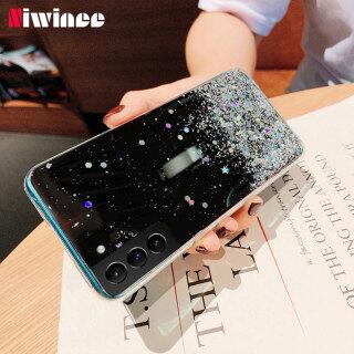 NIWINEE Đối Với Samsung Galaxy Ốp Lưng S21 5G S21 Plus S21 + 5G S21 Ultra 5G Ốp Kim Sa Ngôi Sao Lấp Lánh Sang Trọng Ốp Lưng Silicon Trong Suốt thumbnail