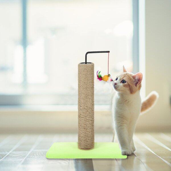 Khung Leo Cây Cho Mèo Thú Cưng Với Chuông, Cá Đồ Chơi Bảng Cào Cho Mèo, Tương Tác Đồ Chơi