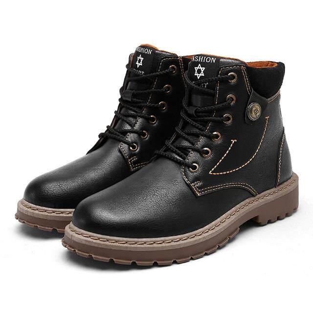 ใหม่ผู้ชายรองเท้าแฟชั่นผู้ชายรองเท้าบูทหุ้มข้อเท้าฤดูหนาวผู้ชายบูทขี่มอเตอร์ไซด์สำหรับผู้ชายs รองเท้าออกซ์ฟอร์ดรองเท้าบู้ตหนัง Hh-017 By Chhuist.