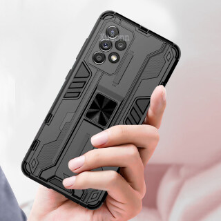 Cho Samsung Galaxy A72 A72 5G Ốp Điện Thoại, Ống Kính Chống Sốc Nặng Hai Lớp Ốp Lưng Có Chân Chống Bảo Vệ thumbnail