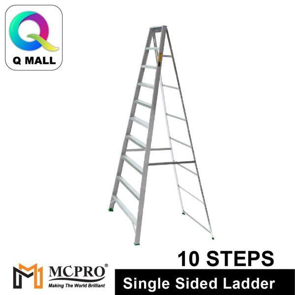 MCPRO Aluminium Single Sided Ladder 10 Steps 100 [ Max Reachable Height 387.6cm ]