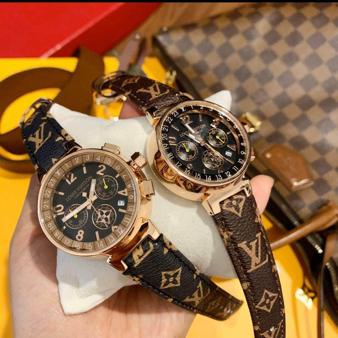 MORASCHIKA (100%PREMIUM 1/1Quality)( READY STOCK) BEST SELLER EVER! NEW LIMITED EDITION! LV2019_LVuitton Haute Signature Timeless Monogram LV_ CHRONOGRAPH 40MM Leather WATCHES Malaysia