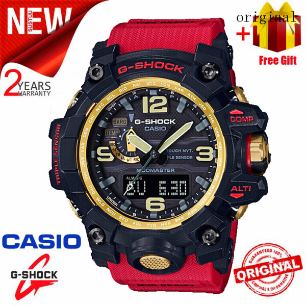 2021 Original Casio G Shock MUDMASTER Men Sport Watch GWG1000 Dual Time Display 200M Water Resistant Shockproof and Waterproof World Time LED Auto Light Sports Wrist Watches with 2 Years Warranty GWG-1000GB-4A (Free Shipping) Malaysia