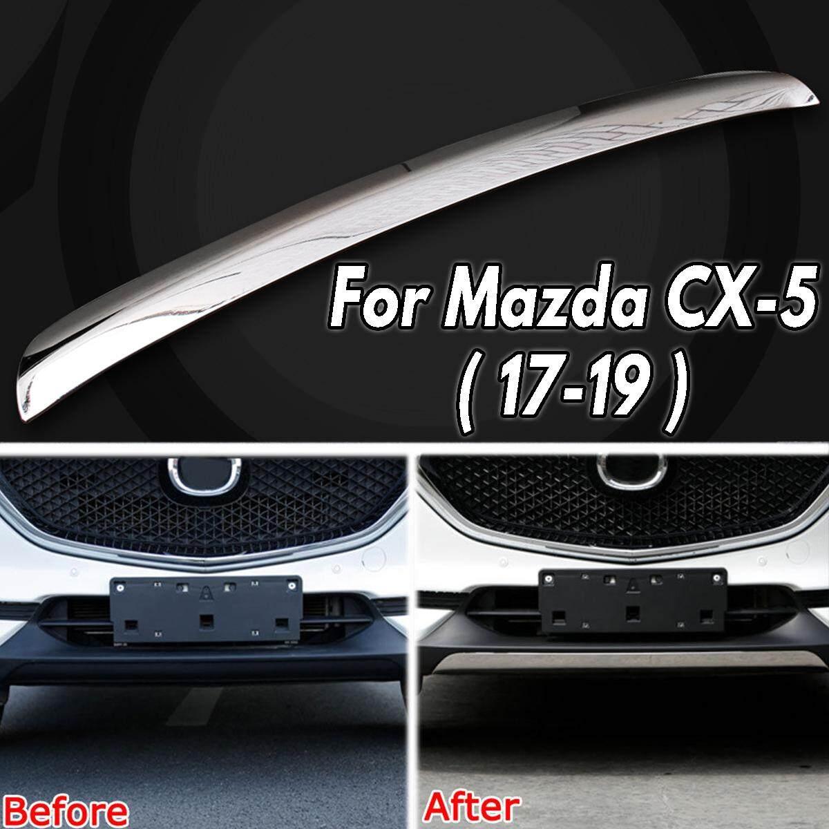 Dành cho Xe Mazda CX-5 CX5 2017-2019 inox Mạ Chrome Trước môi viền bao da - 5