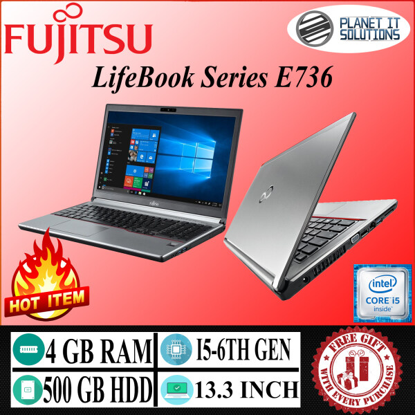 Fujitsu LifeBook Series E736  Core i5-6th gen 4GB RAM 500GB HDD 13.3 INCH Malaysia