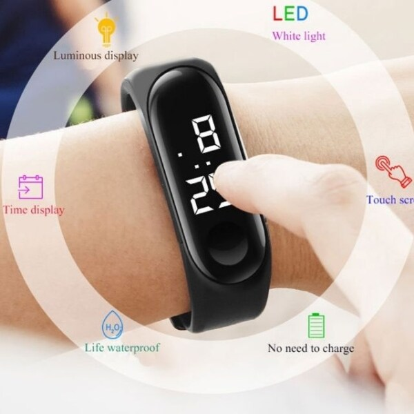 Waterproof Smart Watch LED Sport Digital Watch Fitness Wristwatch Touch Screen Unisex #readystock in malaysia Malaysia