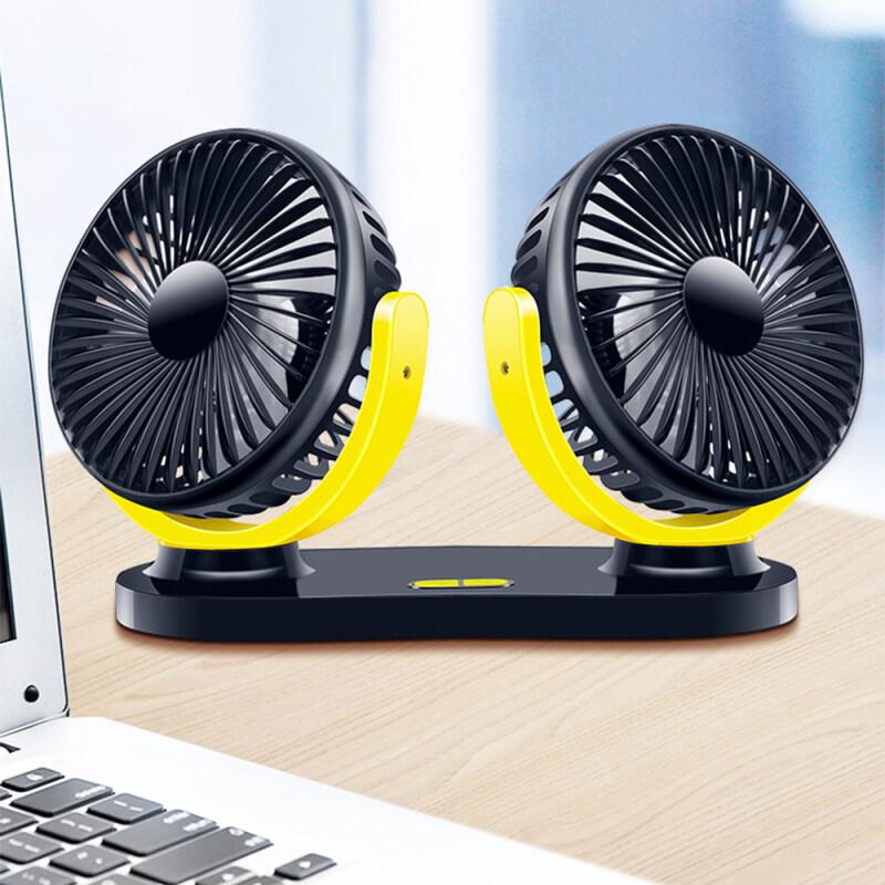 Bảng giá Quạt hai đầu di động hai đầu 12V giao diện USB quạt điều chỉnh phù hợp quạt làm mát cho máy tính để bàn & máy tính xách tay & ô tô, v. v. Phong Vũ