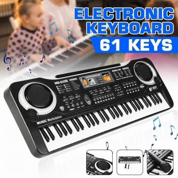 61-Key Digital Electric Piano Keyboard Portable Multi-Functional Keyboard with Microphone Music Keyboard Electric Keyboard Malaysia