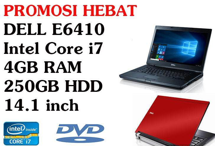 STUDENTS OFFER!!! DELL LATITUDE E6410 Core I7 4GB RAM 250GB HDD 14.1INCH Malaysia