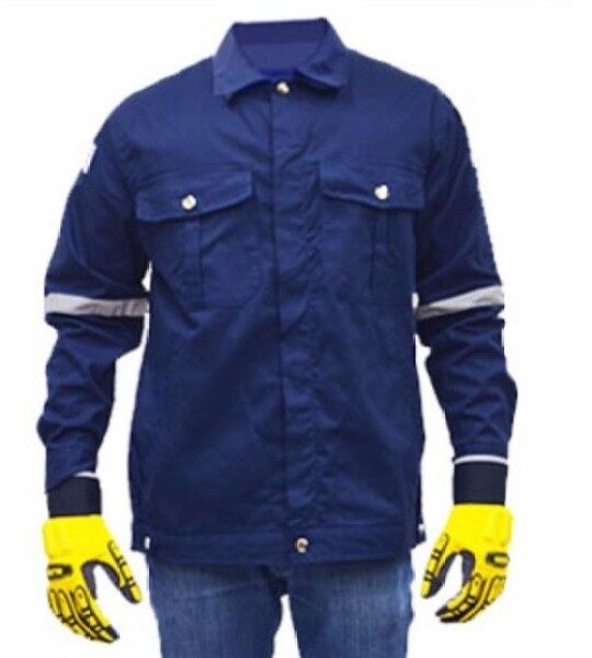 QUEST Safety Reflective Workwear Jacket Navy Blue Size 4XL
