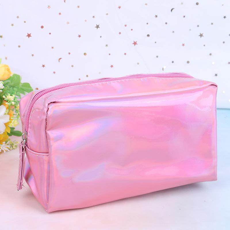 Blowing Laser Cosmetic Bag Pencil Case Makeup Pouch Laser Zipper Purse Toiletry Cases