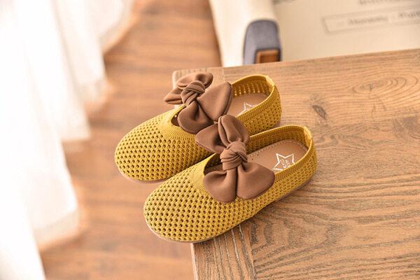 Giá bán Giày Công Chúa Nơ Cho Bé Gái Mới Mùa Xuân 2021, Giày Khiêu Vũ Hàn Quốc Cho Bé Gái