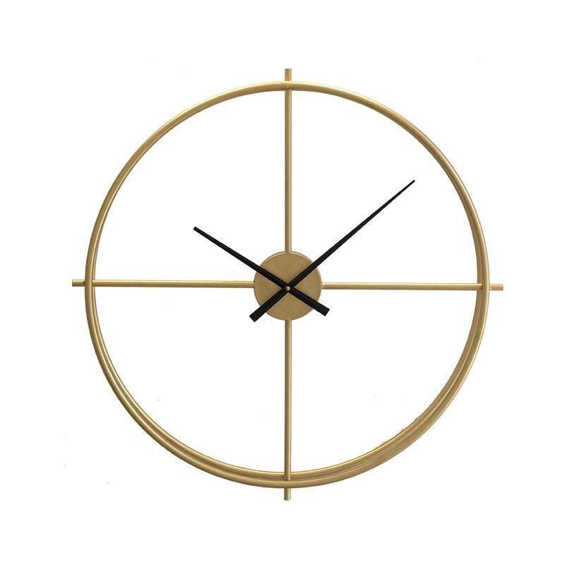 Modern Minimalist Nordic Ironwork Creative Luxury Art Trend Clocks for Living Room Study Clubhouse Hotel