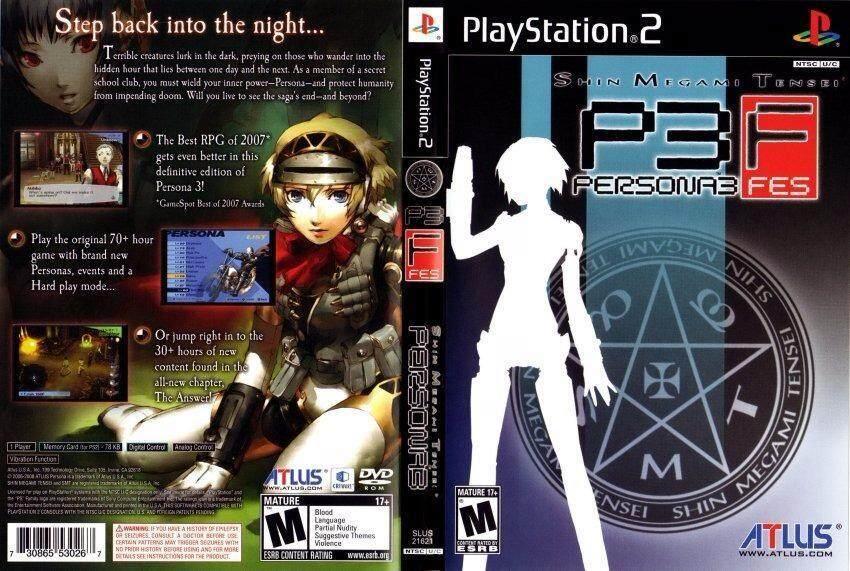 Ps2 Shin Megami Tensei Persona 3 FES