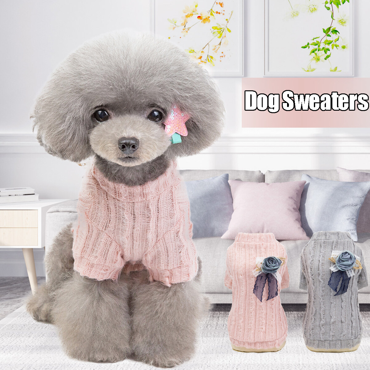 Cute Pet Puppy Cat Warm Jumper Sweater Knitwear Coat Apparel Clothes Sweatershirt Winter Small Dog Chihuahua Hoodie Clothes Dog Jacket.
