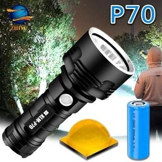 Đèn Pin Siêu Sáng WESTON L2 P70 Chiến Thuật Đèn Pin Đèn Chống Nước DL2 Sạc USB Đèn Cắm Trại Siêu Sáng, Thích Hợp Cho Các Hoạt Động Ngoài Trời Như Leo Núi, Cắm Trại, Đi Bộ Đường Dài, Lâm Nghiệp Hoặc Nhà Cửa thumbnail