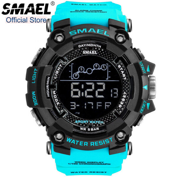 SMAEL Top Brand Luxury Mens Sport Watches Fashion Military LED Digital Display Outdoor Stopwatch Waterproof Casual Date Watch Malaysia