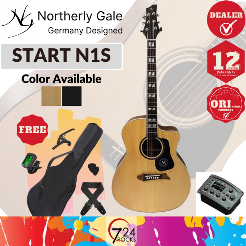 Northerly Gale Germany Designed START N1S Mini Jumbo Acoustic Guitar Malaysia