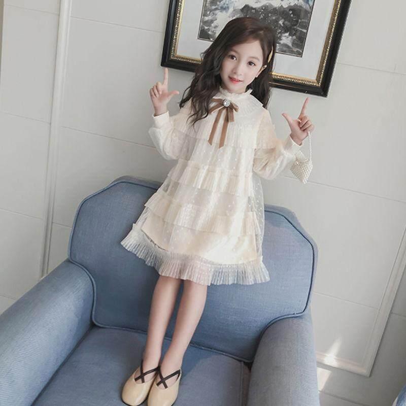 Giá bán Áo Đầm Bé Gái Thu Đông Áo Mới 2019 Phiên Bản Hàn Quốc Thời Trang Trẻ Điểm Đầm Trẻ Em Tây Hóa Màn Hình Váy Công Chúa