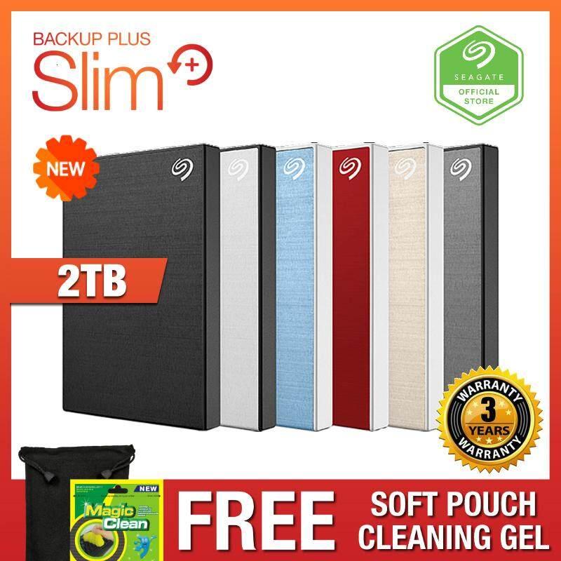 [NEW 2019] Seagate 2TB Backup Plus Slim Aluminium Portable External Hard  Disk Drive
