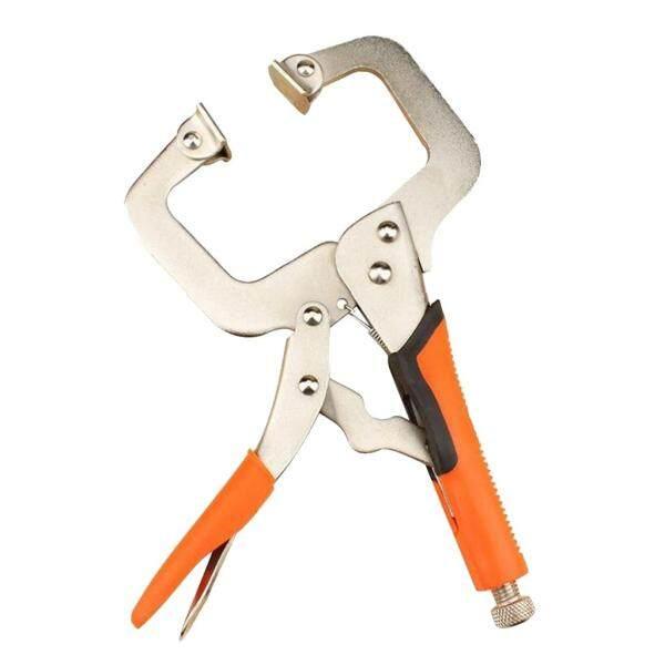 Miracle Shining 2pcs 6in 14in C Clamp Vise Grip Locking Regular Tip Multi Pincers Tongs