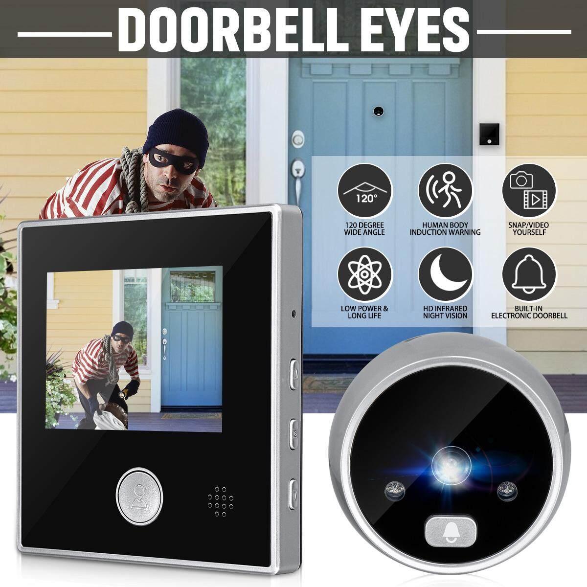 3 Màn Hình Kỹ Thuật Số LCD Nhìn Trộm Màu Người Xem 120 ° Cửa Mắt An Ninh Chuông Cửa HD Camera Hồng Ngoại