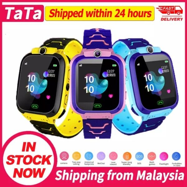 Q12B childrens smart watch Android card 2G waterproof remote positioning GPS locator camera call anti-lost childrens smart wristband (Kuala Lumpur stock, can be sent, delivery time 2-3 days) Malaysia