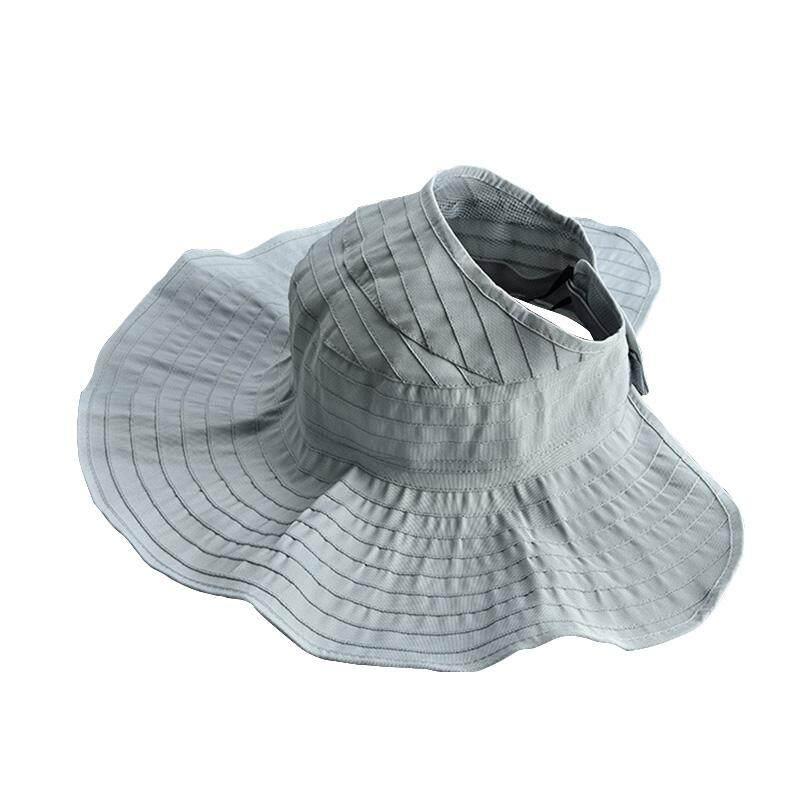 [YP-HooWoo MY]Anti-UV Sun Hat Folding Sun Hat Empty Top Hats Beach Wide  Brim Visor Hat