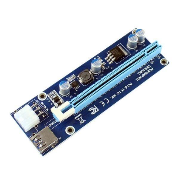 Bảng giá Pci-E Express 1X 4X 8X 16X Extender Riser Card Adapter 6 Pin Dc-Dc Power Cable Gpu Riser Card Adapter For Eth Bitcoin Mining Phong Vũ