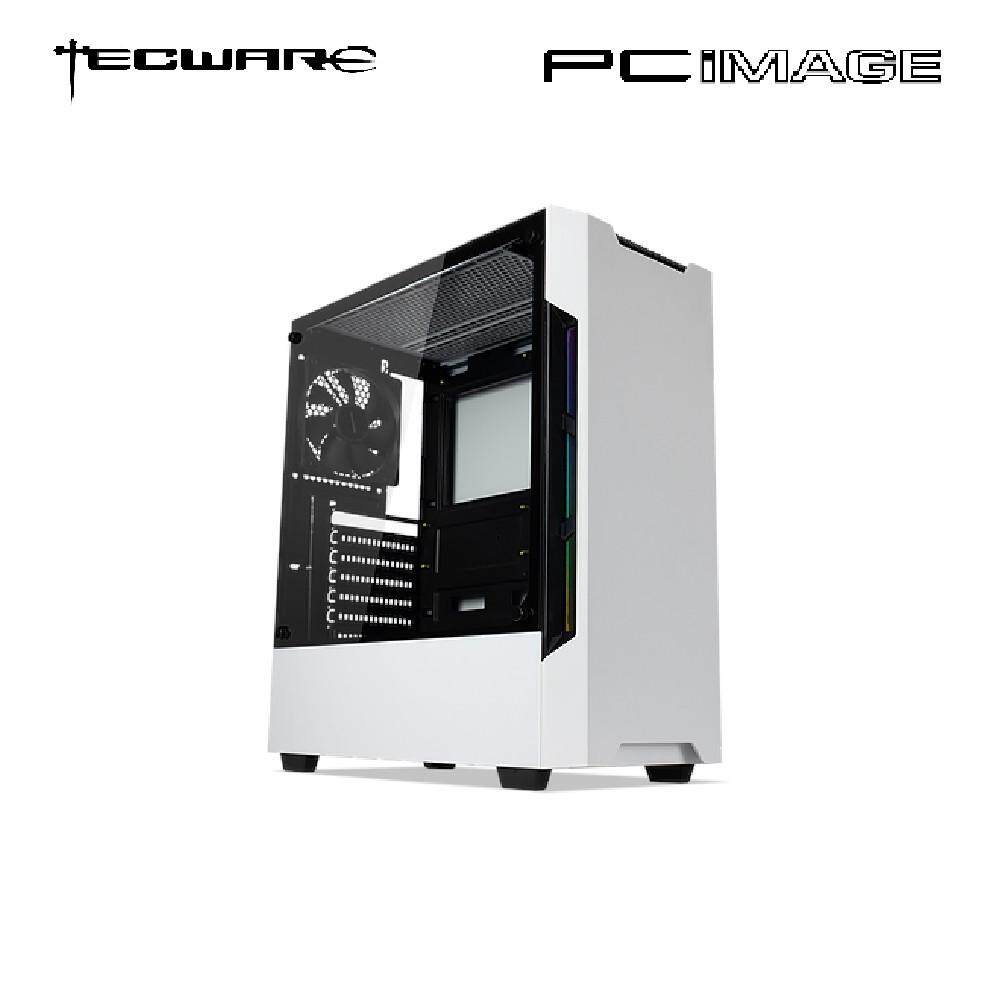 TECWARE NEXUS EVO ARGB TG WHITE ATX GAMING CASE image on snachetto.com