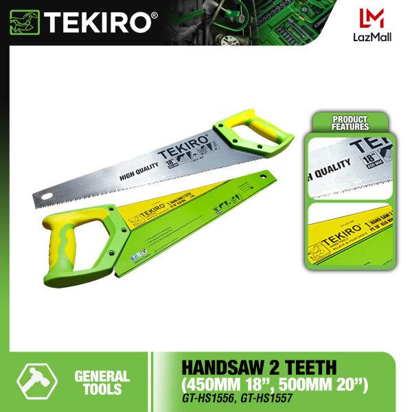 TEKIRO Handsaw 2 Teeth 18 / 20 Woodworking Tool Saw Gergaji Kayu Gagang TPR 2 Mata ( GT-HS1556 , GT-HS1557 )