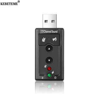 Kebeteme Gắn Ngoài USB Card Âm Thanh 7.1 Kênh 3D Loa Âm Thanh Micro Card Âm Thanh Mic Adapter 3.5 Mm Stereo Jack thumbnail